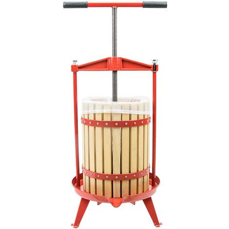 Presse-fruits à vis en bois 18 litres Facile à nettoyer