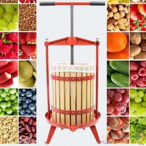 Presse-Fruits Manuel En Bois à Vis Rotative. Capacité : 12 Litres