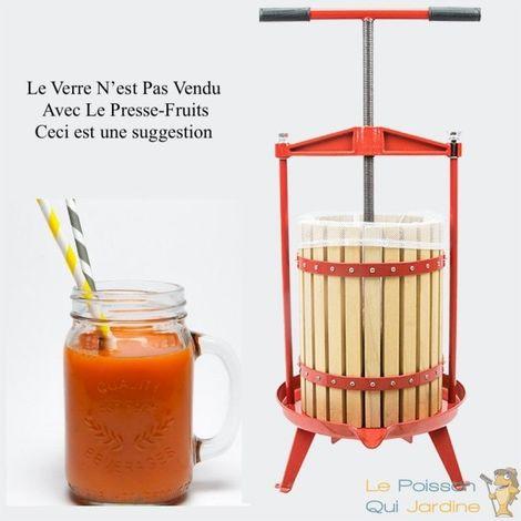 Presse-Fruits Manuel En Bois à Vis Rotative. Capacité : 18 Litres