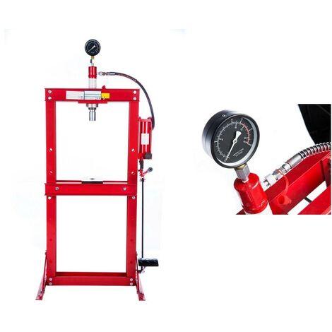 Presse hydraulique 12 Tonnes avec mano et pédale