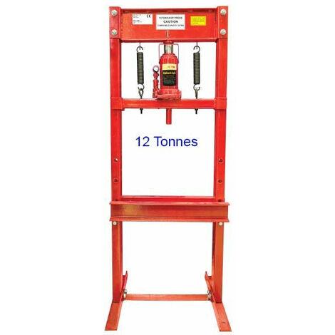 Presse hydraulique d'atelier 12 tonnes rouge