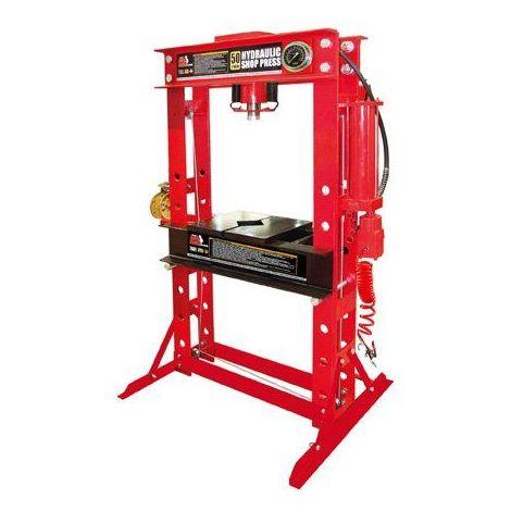 Presse hydraulique d'atelier 50 tonnes,manuelle et pneumatique