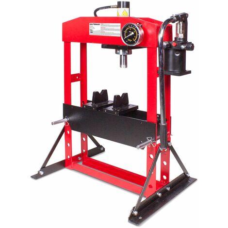 Presse hydraulique d'atelier manuelle 15 t MW-Tools PH15BT