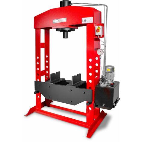 Presse hydraulique d'atelier motorisée 100 t MW-Tools AGMCPM100