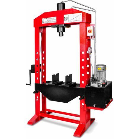 Presse hydraulique d'atelier motorisée 50 t MW-Tools AGMCPM50
