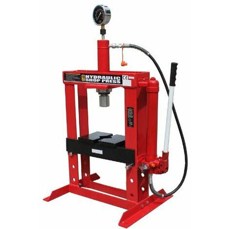 Presse hydraulique d'établi 10 tonnes à commande manuelle