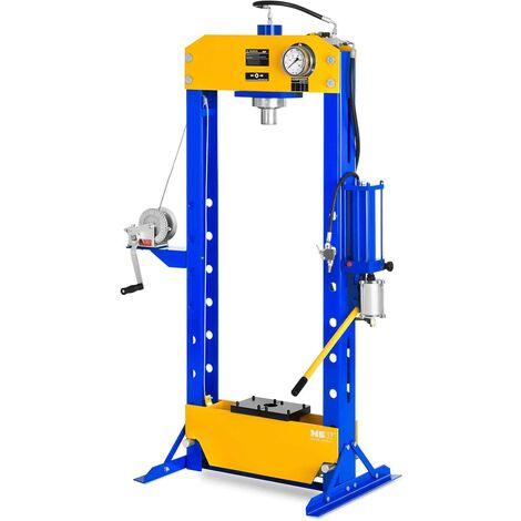 Presse Hydraulique Pmatique Atelier 50 T Manometre Treuil A Cable 7 Hauteurs