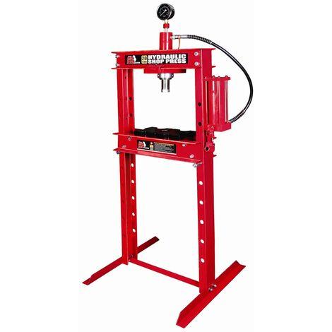 Presse manuelle sur colonne hydraulique 20 tonnes avec manomètre
