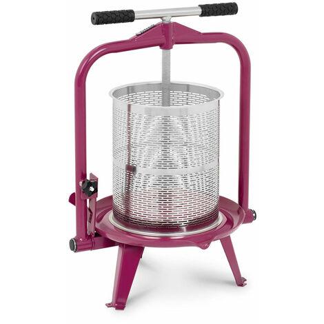Pressoir de table hydraulique extracteur de jus mécanique à vis inox presse à fruit pomme jus vin raisin 14 litres