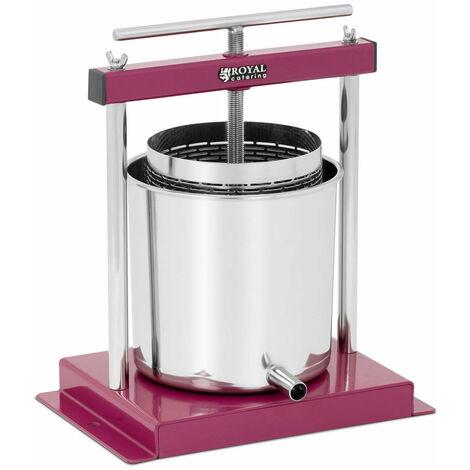 Pressoir de table hydraulique extracteur de jus mécanique à vis inox presse à fruit pomme jus vin raisin cidre 4,5 litres