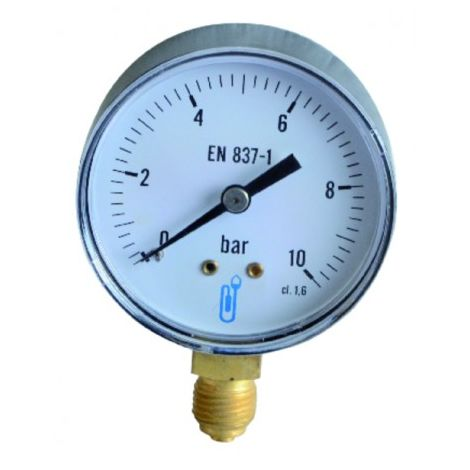 Pressure gauge 0 to 10 bar ø63mm
