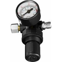 Pressure gauge with 1/4″ connection - pressure gauge, manometer - black