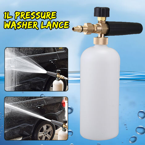 Pressure lance foam bottle 1L 2000PSI - 5000PSI for Aldi Workzone Ryobi Vax Qualcast Parkside Mohoo
