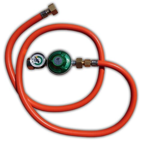 Pressure regulator / hose set 50 mbar with gauge