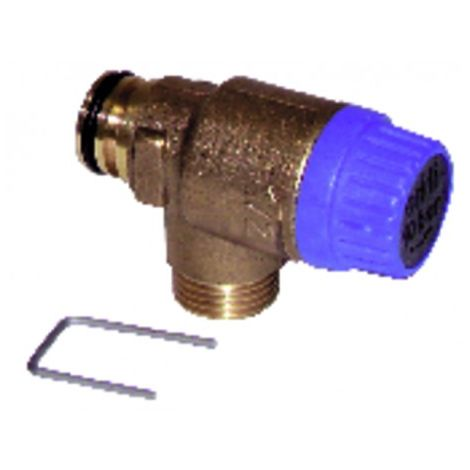 Pressure relief valve 10 bars - DIFF for Saunier Duval : 05722900