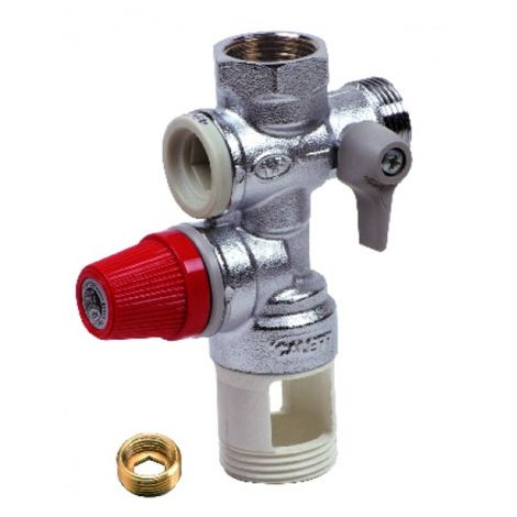Pressure relief valve 15/21 or 20/27 - DIFF for Chaffoteaux : 60077063
