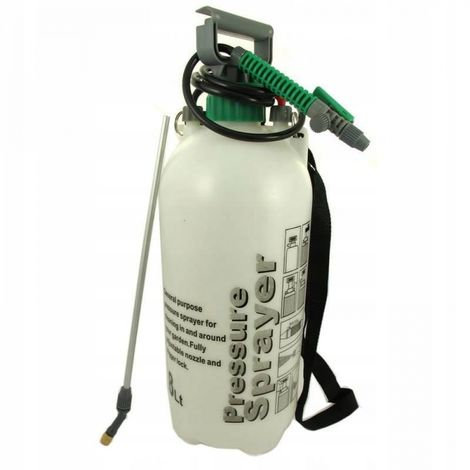 Pressure sprayer 8l sprayer with lance