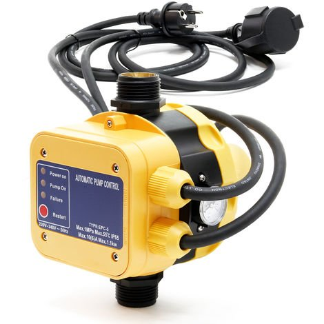 Pressure Switch EPC-5 230V with 2 Cables for Domestic Waterworks & Pumps with Dry-Run Protection