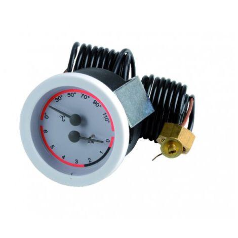 Pressure temperature gauge - BAXI : SX9950030