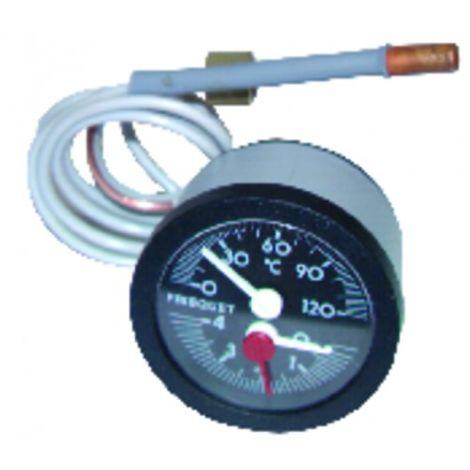 Pressure temperature gauge + gaskets - FRISQUET : F3AA40085