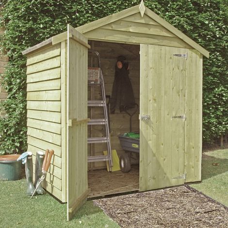 Pressure Treated Overlap Garden Shed Approx 4 x 6 Feet