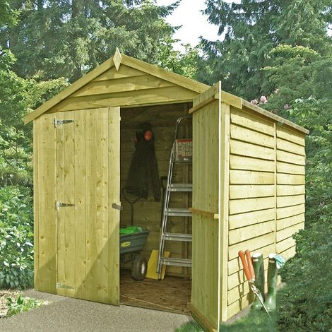 Pressure Treated Overlap Garden Shed Approx 8 x 6 Feet