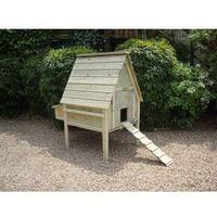 Pressure treated raised chicken coop for up to 6 hens with nestboxes from Buttercup Farm