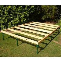 Pressure Treated Timber Base With Height Adjustable Spikes