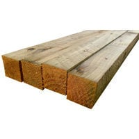 Pressure Treated Timber Fence Rails - 12ft (3.6M) x 2 x 2 Inch (50mm) - pack of 6