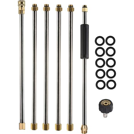 """main image of """"Pressure Washer Extension Wand, 90 Inch Power Washer Lance, 1/4 Inch Quick Connect, M22, 4000 PSI"""""""