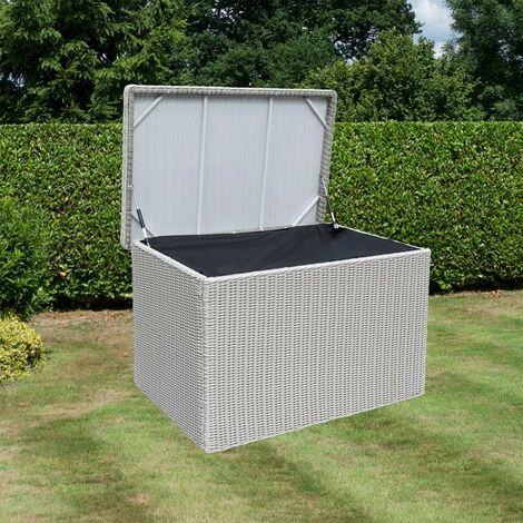 Rowlinson Prestbury Rattan Cushion Storage Box Chest Cabinet Garden Waterproof