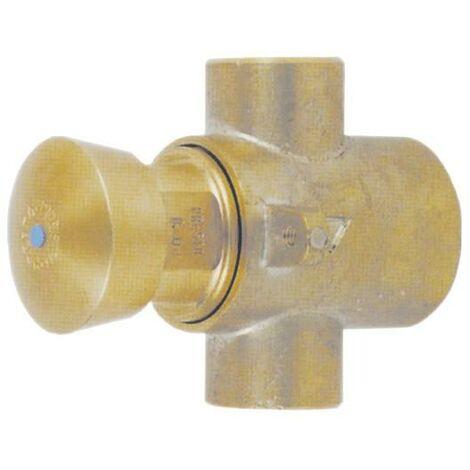 PRESTO 127 TC (F) PA. Grifo temporizado antirrobo para instalación tras tabique con cuerpo y pulsador de latón sin cromar.