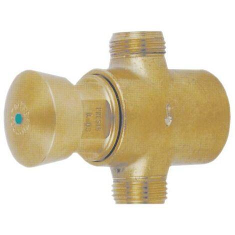 PRESTO 212 TC. Grifo temporizado antirrobo para instalación tras tabique con cuerpo y pulsador de latón