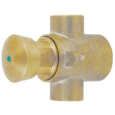 PRESTO 227 TC.Grifo temporizado antirrobo para instalación tras tabique con cuerpo y pulsador de latón.