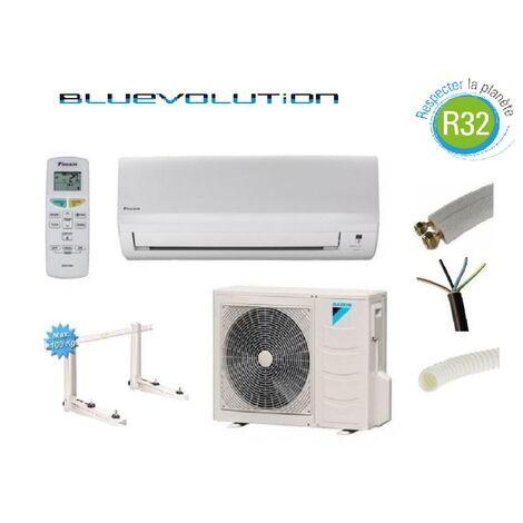 PRET A POSER CLIMATISATION DAIKIN 6000W R32 BLUEVOLUTION REVERSIBLE FTXF60A + KIT DE POSE 12 METRES + SUPPORT MURAL