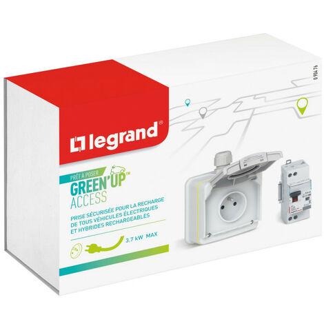 Prêt à poser Green'up Access véhicule électrique prise saillie + disj. diff