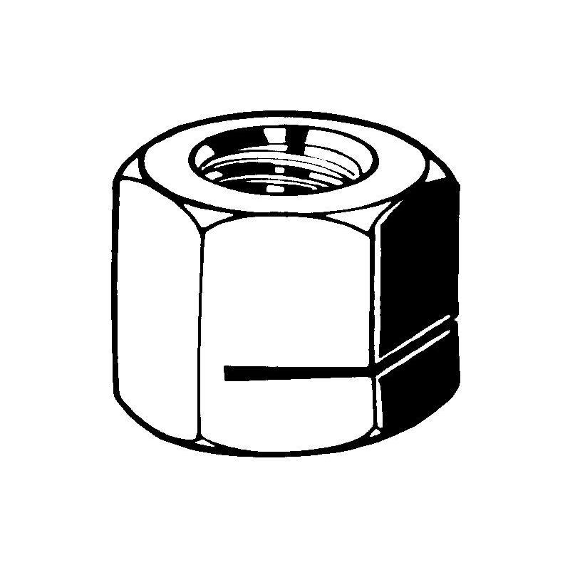 Prevailing torque type hexagon nut all metal type H130-ESN Steel Zinc plated