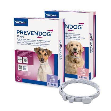 PREVENDOG Collar Antiparasitario para Perros de Razas Grandes. 1 Unidad de 35 cm