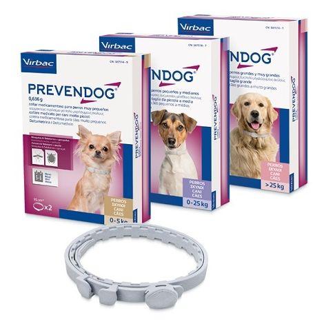 PREVENDOG Collar Antiparasitario para Perros de Razas Medianas. 2 Unidades de 60 cm