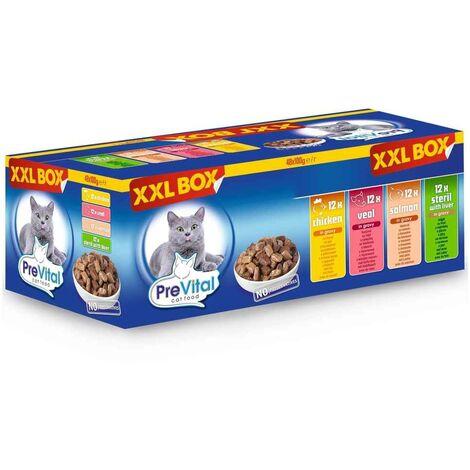 """main image of """"Prevital - Pack Repas Fraîcheur XXL pour Chat - 48x100g"""""""