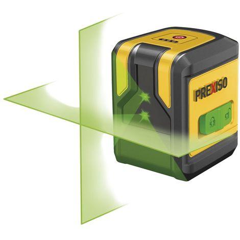 PREXISO 8250379 - Nivel láser de 2 líneas en cruz verde PLC10PG