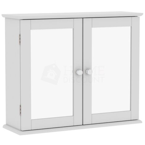 Priano 2 Door Mirrored Wall Cabinet