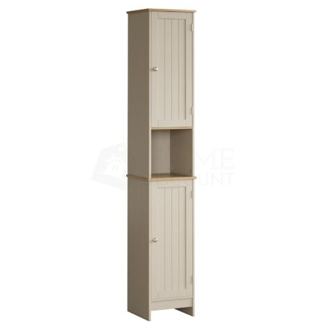 Priano 2 Door Tall Cabinet, Grey