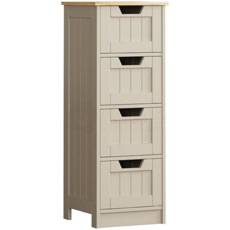 Priano 4 Drawer Freestanding Unit, Grey