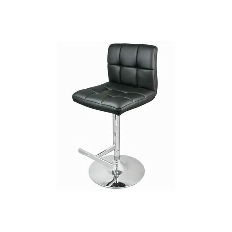 Prill Black Bar Swivel Bar Stool Fully Adjustable