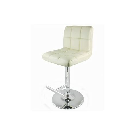Prill Cream Bar Swivel Bar Stool Fully Adjustable