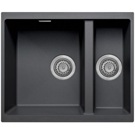Prima 1000x500 1 And A Half Granite Undermount Kitchen Sink Black
