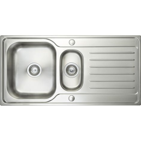 Prima 1000x500 1 and Half Deep Bowl Inset Kitchen Sink Stainless St