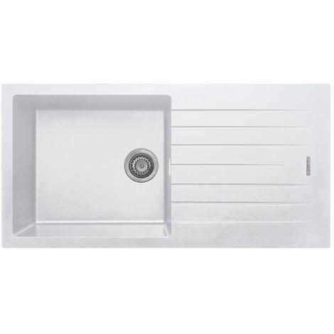 Prima 1000x500 1 Bowl Granite Inset Reversible Kitchen Sink White