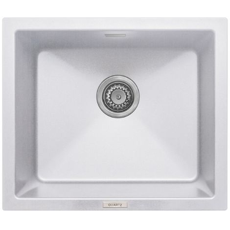 Prima 555x457 1 Bowl Granite Undermount Kitchen Sink White
